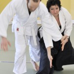 Sensei Michelle en action avec Vincent.